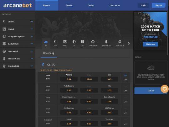 ArcaneBet Esports Review