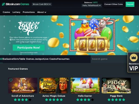 Bitcoin.com Games Review