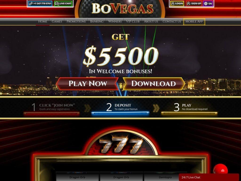 BoVegas Casino Bonus Codes 2021