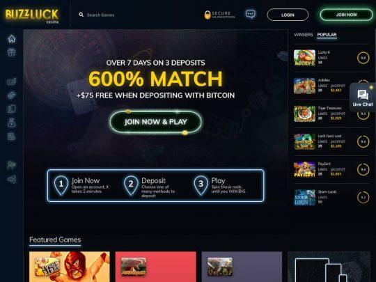 Buzz Luck Casino Review
