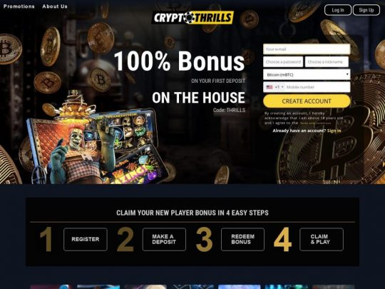 CryptoThrills Casino Review