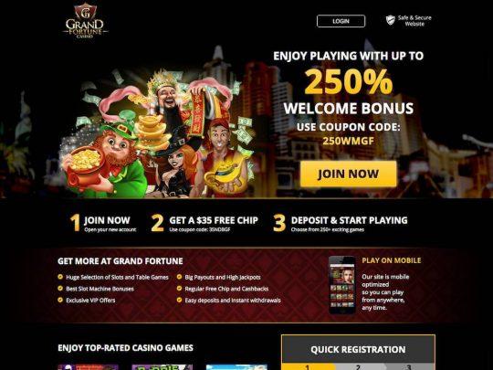 Grand Fortune Casino Review
