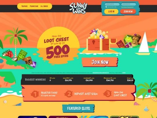 Sunny Wins Casino Review