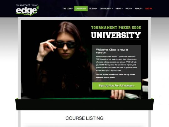 Tournament Poker Edge Review