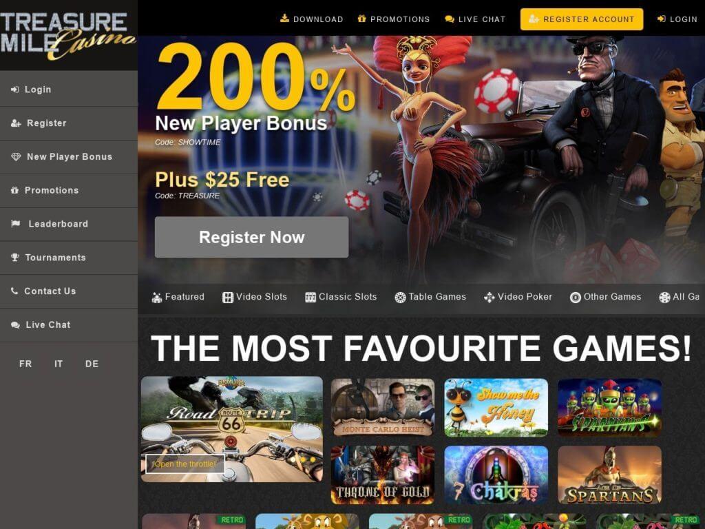 Treasure Mile Casino Bonus Codes 2021
