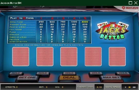 Wild Casino Jacks or Better Video Poker